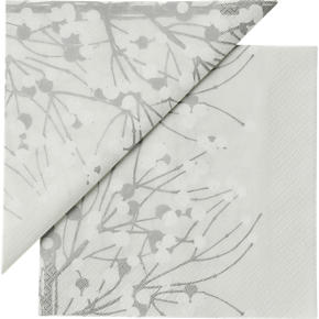 Set of 20 Marimekko Lumimarja White Paper 6.5 Napkins
