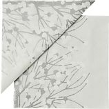 "Set of 20 Marimekko Lumimarja White Paper 6.5"" Napkins"