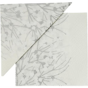 Set of 20 Marimekko Lumimarja White Paper 4.75 Napkins