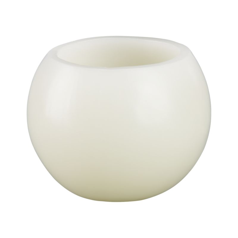Luminary orbs are hollow at the top to create a warm lantern glow when lit.<br /><br /><NEWTAG/><ul><li>100% purified paraffin wax</li><li>Burn time: 15 hours</li><li>Made in Vietnam</li></ul>