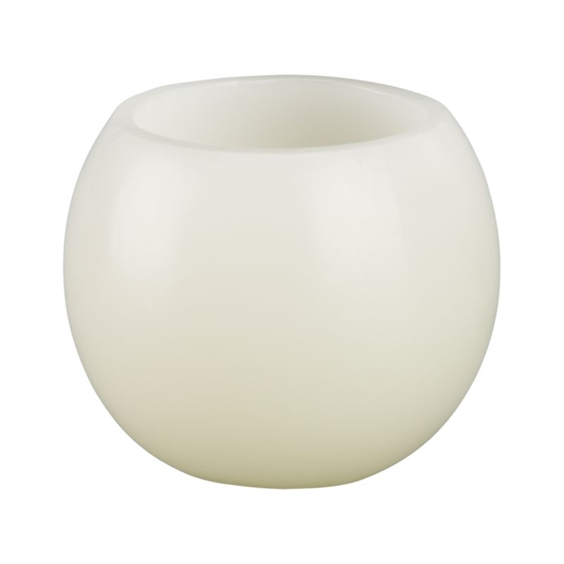 Luminary orbs are hollow at the top to create a warm lantern glow when lit.<br /><br /><NEWTAG/><ul><li>100% purified paraffin wax</li><li>Burn time: 8 hours</li><li>Made in Vietnam</li></ul>