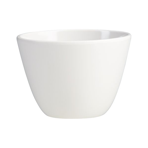 "Set of 4 Lunea Melamine White 4.25"" Dip Bowls"