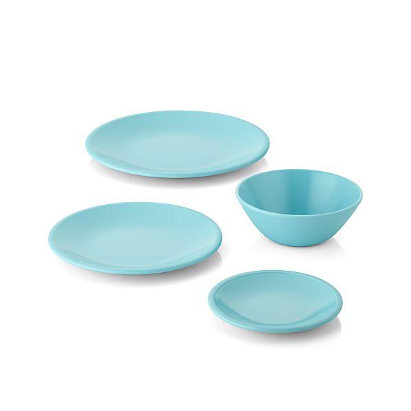 Lunea Melamine Blue Dinnerware