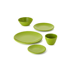 Lunea Melamine Green Dinnerware