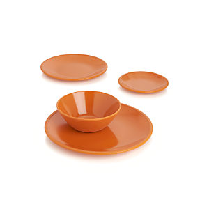 Lunea Melamine Orange Dinnerware