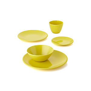Lunea Melamine Yellow Dinnerware