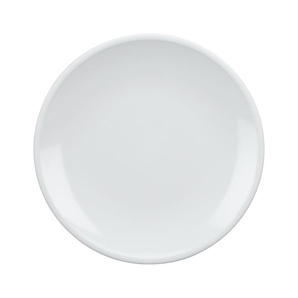 "Set of 4 Lunea Melamine White 10.5"" Dinner Plates"