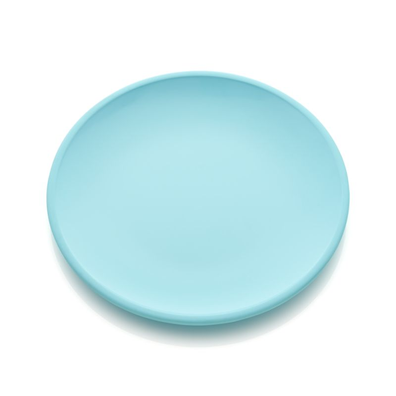 Lunea Melamine Blue Dinner Plate Crate And Barrel