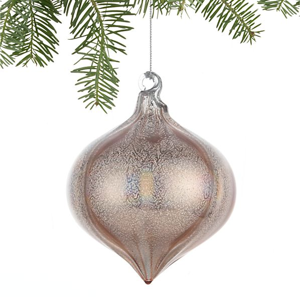 Luster Champagne Onion Ornament