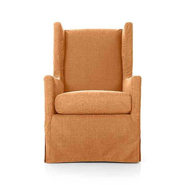 Luxe Slipcovered Swivel Glider