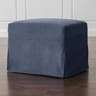 Luxe Slipcovered Glider Ottoman
