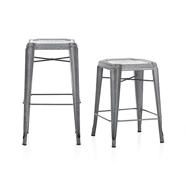 Lyle Backless Bar Stools Crate And Barrel