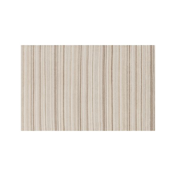 Lynx Natural Striped Wool 5'x8' Rug