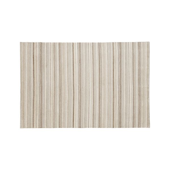 Lynx Natural Striped Wool 6'x9' Rug