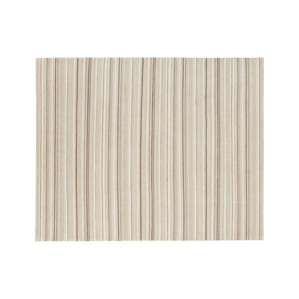 Lynx Natural Striped Wool 8'x10' Rug