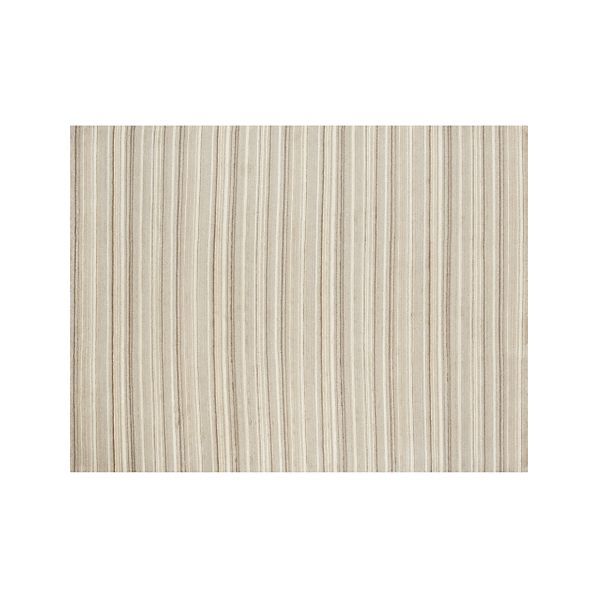 Lynx Natural Striped Wool 9'x12' Rug