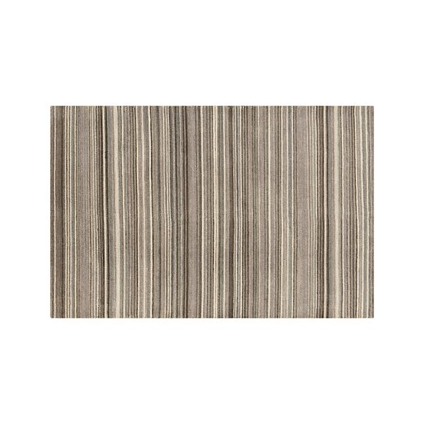 Lynx Grey Striped Wool 5'x8' Rug