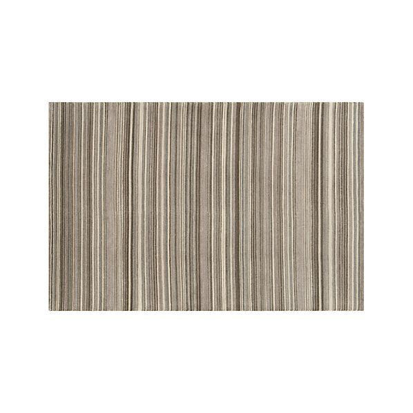 Lynx Grey Striped Wool 6'x9' Rug