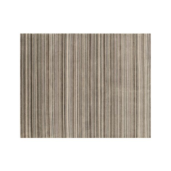 Lynx Grey Striped Wool 8'x10' Rug