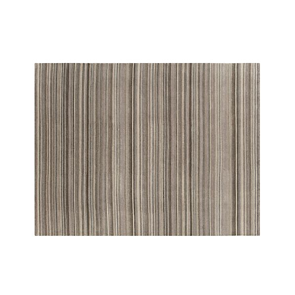 Lynx Grey Striped Wool 9'x12' Rug