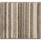 Lynx Grey Striped Wool Rug Swatch.