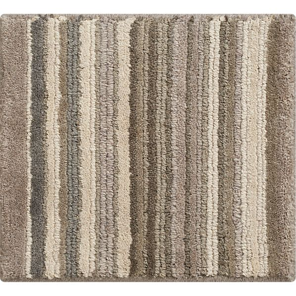 "Lynx Grey Striped Wool 12"" sq. Rug Swatch"