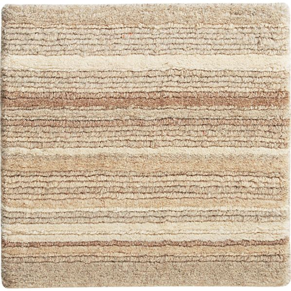 "Lynx Natural Striped Wool Rug 12"" sq. Rug Swatch"