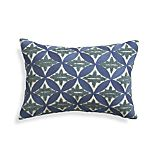 Madera Blue Pillow with Down-Alternative Insert