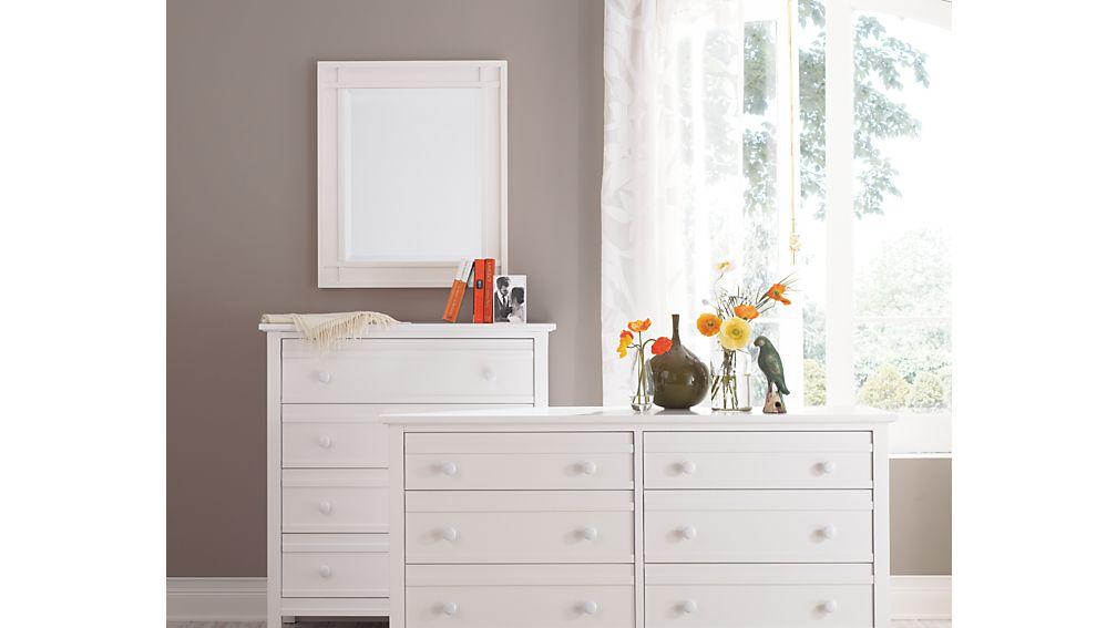 Brighton White 6-Drawer Dresser