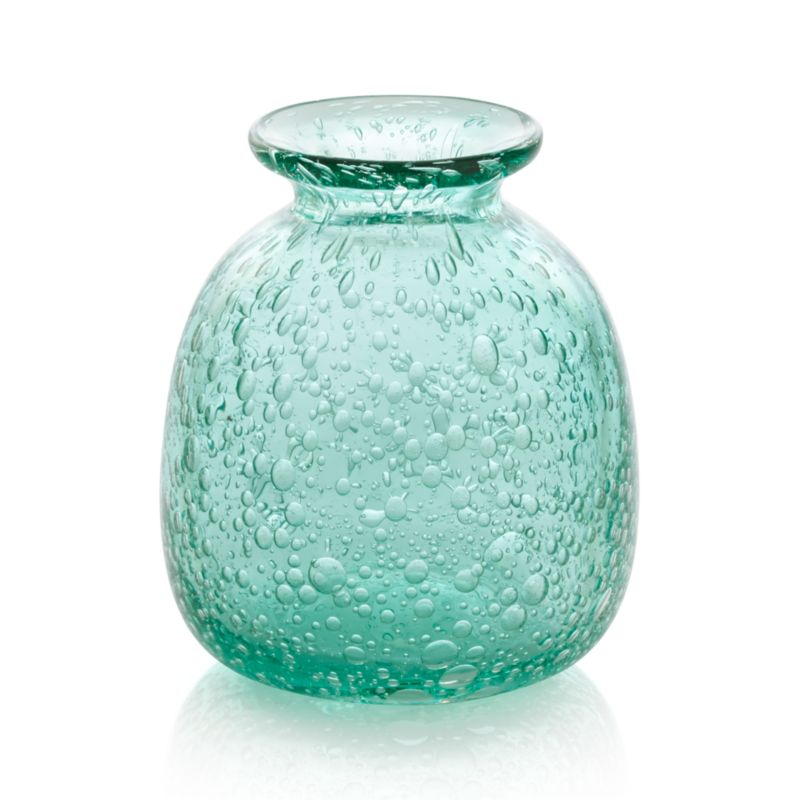 Effervescent soda glass bubbles sea-green, bottle-shaped vase.<br /><br /><NEWTAG/><ul><li>Handcrafted</li><li>Glass</li><li>Watertight</li><li>Hand wash</li><li>Made in China</li></ul>