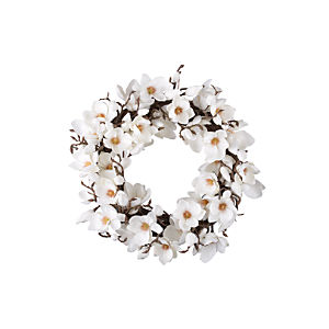 Magnolia Artificial Flower Wreath