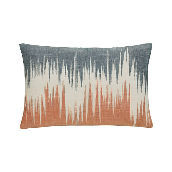 "Malabar Orange and Ink 18""x12"" Pillow with Down-Alternative Insert"