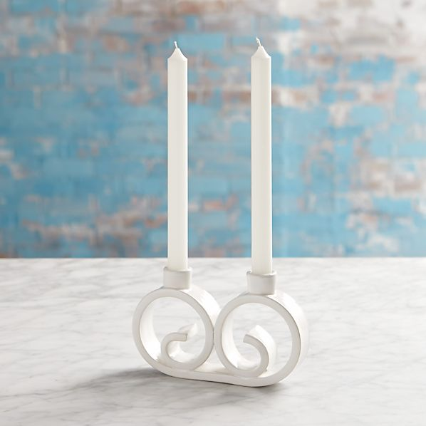 Mallorca Curled Two Taper Candleholder
