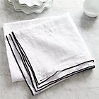 "Mallorca Linen 60""x120"" Tablecloth."