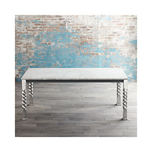Mallorca Rectangular Marble Top Dining Table