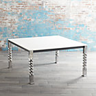 Mallorca Square White Top Dining Table.