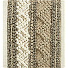 Mallory Neutral Striped Wool Rug Swatch.