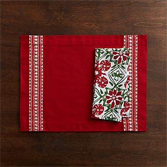 Malmo Placemat and Winter Flower Napkin