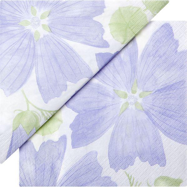 "Set of 20 Marimekko Malva Paper 6.5"" Napkins"