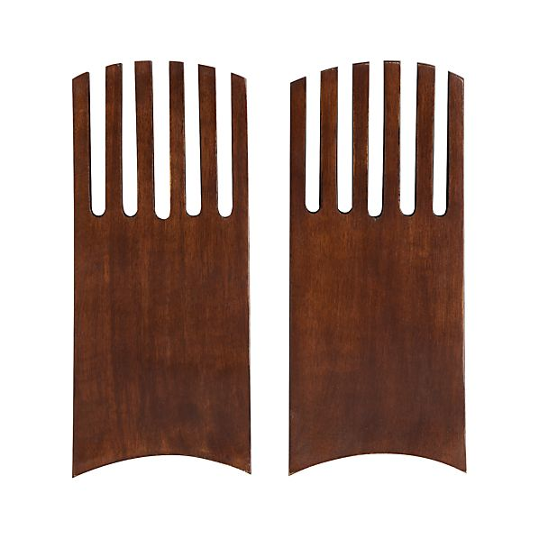 Set of 2 Mango Wood Salad Hands