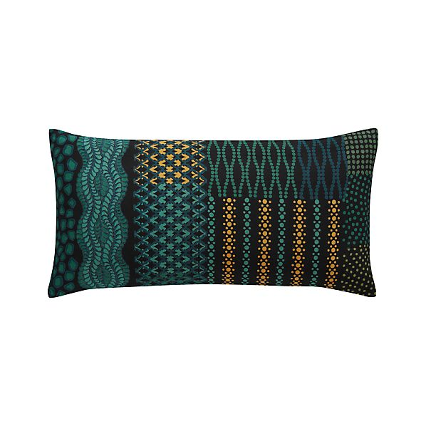 "Manish 24""x12"" Pillow with Feather-Down Insert"
