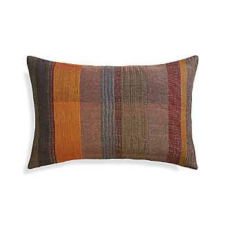 "Manza 24""x16"" Pillow with Feather-Down Insert"