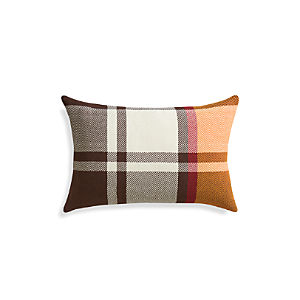 "Maple Plaid 24""x16"" Pillow"