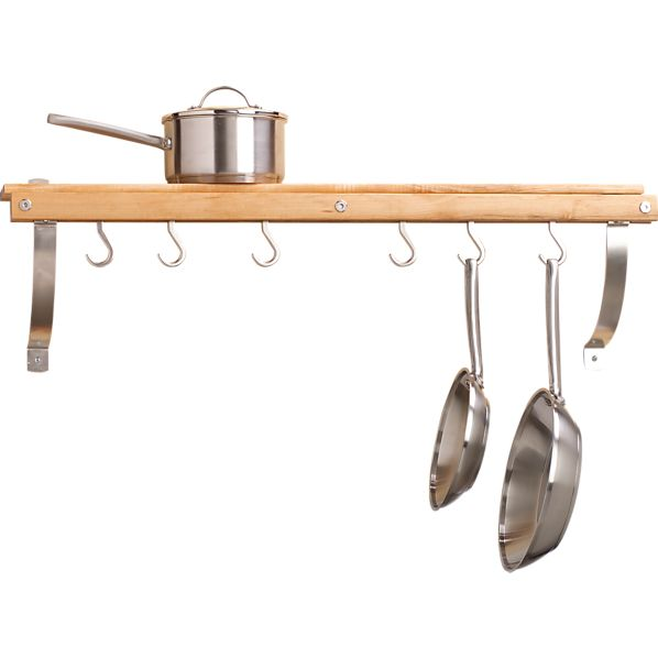 Maple Wall Mounted Pot Rack