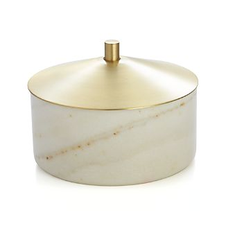 Marble Jewelry Dish with Lid