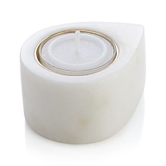 Marble Teardrop Candle Holder