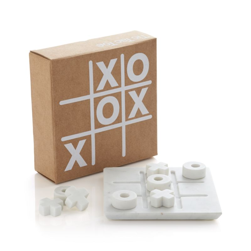 Marble Tic Tac Toe Set