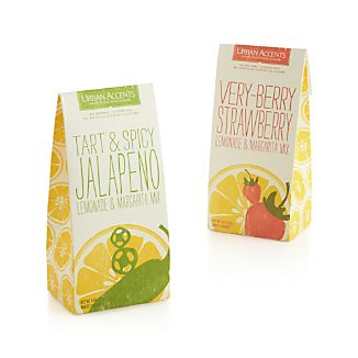 Urban Accents Very Berry Strawberry and Tart & Spicy Jalapeño Lemonade & Margarita Mixes