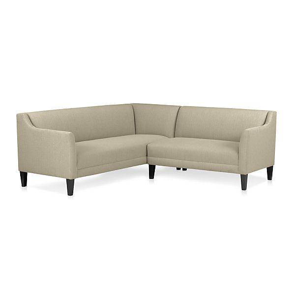 Margot 2 piece sectional sofa platinum crate and barrel for Crate and barrel lounge 2 piece sectional sofa