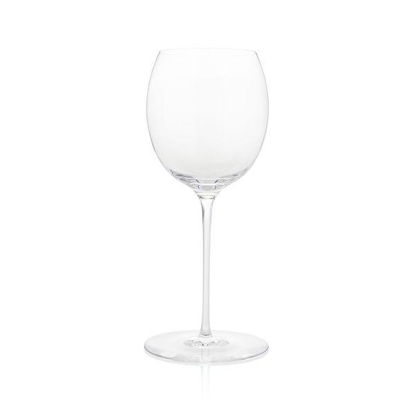 Marika Big White Wine Glass
